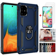 For Samsung Galaxy A51 A71 Stand Hard Shockproof Cover Case+HD Screen Protector