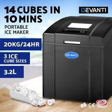 Devanti Ice Maker Machine Commercial Portable Ice Cube Tray Countertop