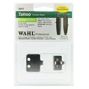 Wahl Tattoo Trimmer 2-Hole Designs/Lines Replacement Blade #2041 NEW Made in USA