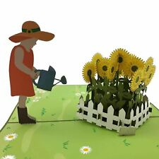 Sunflower Garden 3d Pop Up Card