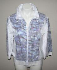 NWT CYNTHIA ROWLEY Womens White Nylon Zip Front Jacket S