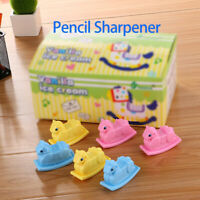 Plastic Pencil Sharpeners Kids Colours Double Hole For School Home Office New