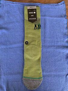 Stance Pixar Army Men LARGE Crew Socks NWT Light Cushion Green