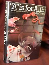"""A is for Alibi """"SIGNED"""" Sue Grafton 1st Edition, 2nd Print, Hardcover, 1982"""