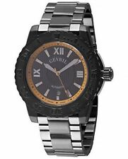 Gevril Men's 3112B Seacloud Automatic Luminous Black IP Stainless Steel Watch