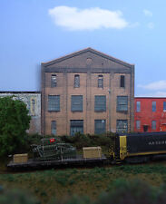 #221 N scale background building flat HERCULES ENGINES FRONT  * FREE SHIPPING*