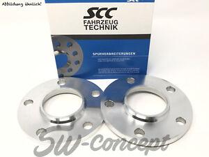 10mm 2x5mm Adapterscheiben SCC LK 5/112 NLB 57,1 auf 66,6 für Audi VW Seat Skoda