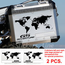 Adesivi BMW WORLD borse alluminio stampa valigie R1200GS Adventure bags stickers