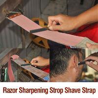 Pro Brown Barber Leather Straight Razor Sharpening Strop Shave Shaving Strap.