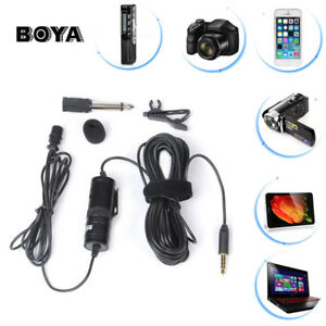 BOYA BY-M1 Lavalier Condenser Microphone for Canon iPhone DSLR Camcorder PC Top