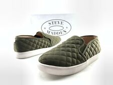d476ae4c33b Steve Madden Ecentrcq Women s Olive Green Quilted Slip On Sneakers US 8 W  C737