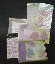 New Scrapbook lot K & Company 6 X 6 Brenda Walton Floral Print Lilac