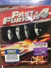 Fast and Furious 4 Blu-ray DVD Digital HD Steelbook