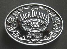 Jack Daniels Old No. 7 Belt Buckle black and silver color USPS Free Shipping