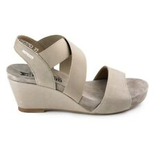 Mephisto Barbara Warm Grey Bucksoft Soft-Air Sandals Women's Size 10 New In Box