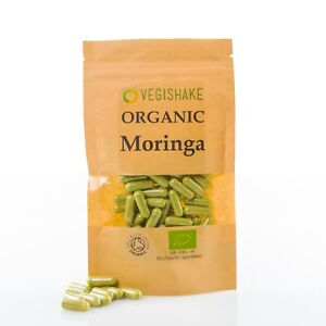 Organic Moringa HPMC Capsules 700mg Oleifera Miracle Tree Vegan Halal Kosher