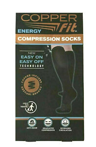 Copper Fit Unisex 2.0 Easy-On and Easy-Off Knee High Compression Socks S/M