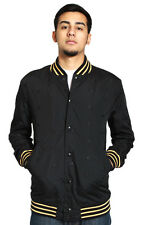BLACK SCALE HUBERT PENTAGRAM VARSITY JACKET BLACK AUTHENTIC IMPORTED FROM USA