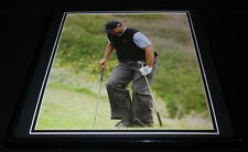 Tiger Woods 2008 US Open Using Clubs as Crutches Framed 12x12 Photo Poster