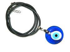 B-0201 - 3cm Glass Lucky Evil Eye Nazar Boncuk Pendant Necklace 45cm Handmade