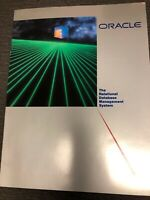 Vintage Oracle The Relational Database Management System Brochure