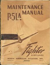 REPRINT WWII P-51A MAINTENANCE MANUAL NA-5629 P51 1943