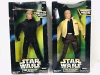 "STAR WARS 12"" LUKE SKYWALKER 2 FIGURES LOT CEREMONIAL / GLOW IN DARK  LIGHTSABER"