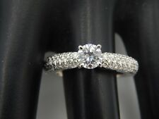 Designer Large 1.43 tcw  Round Diamond Engagement Ring G/SI2 Gorgeous 18k WG