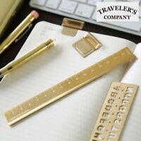 Traveler's company Brass Ruler MIDORI Japan [NEW] Stationery Free ship