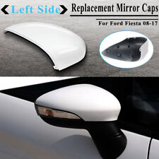 FOR FORD FIESTA MK7 08-17 LEFT SIDE DOOR WING MIRROR COVER CAP CASE FROZEN WHITE