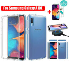 For Samsung Galaxy A10E Shockproof Crystal Clear Case Cover +Screen Protector