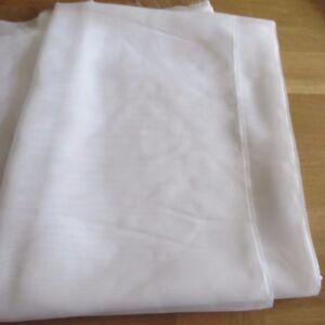 MASSIVE REMNANT John Lewis Slot Top Plain WHITE Voile-Appx 2.4M Wide x 1.0M Drop