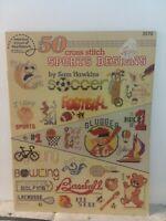 American School of Needlework 50 Sports Designs Cross Stitch Leaflet #3570