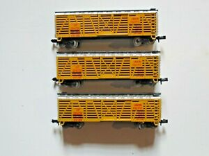 3 X AMERICAN UNION PACIFIC CATTLE CARS MADE IN YUGOSLAVIA