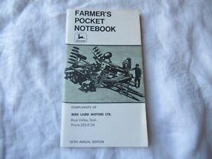 1974 107th Edition John Deere Pocket Ledger Notebook 820 1120 1830 2130 Tractor