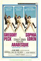 ARABESQUE MOVIE POSTER 27x41 Now Linenbacked GREGORY PECK SOPHIA LOREN 1966