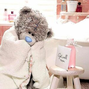 3D Holographic Get Well Me to You Tatty Teddy Bear GET WELL SOON Card