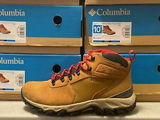 Men's Columbia Newton Ridge Plus 2 Waterproof Brown Suede Mens Winter Boots NEW
