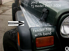 Jeep wrangler TJ Highly Polished Diamond Plate Fender Covers With Bend. Set of 2