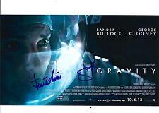 Sandra Bullock & Jonas Cuaron signed Gravity 8X10 photo @ Proof @@
