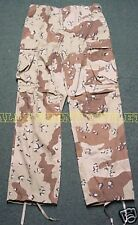 US Military Desert Storm 6 Color Chocolate Chip BDU Pants  XS/S NEW