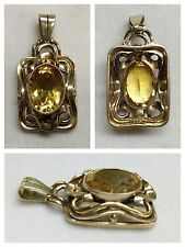 maravillosa Colgante 333 Oro Piedra De Color joya de oro ORO Colgante