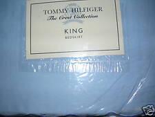 NEW TOMMY HILFIGER FERNANDA LIGHT BLUE KING  BED SKIRT
