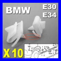 BMW E30 E34 SIDE SILL KICK PLATE COVER TRIM CLIPS SCUFF PROTECTION 3 5 Series 10