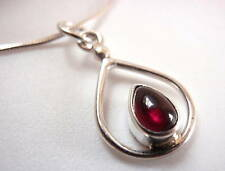 Garnet Petite 925 Sterling Silver Pendant New India