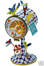 Kelvin Chen Enamel Copper hand painted Tall Stamp Holder Dispenser- Cat Kitty