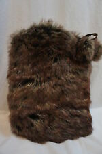 Surell Boot Bling Surell Accessories Heather Brown Faux Fur Shoe Accessory