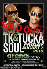 TK SOUL & TUCKA 2015 HOUSTON CONCERT TOUR POSTER -Bad Boy Of Southern Soul Music