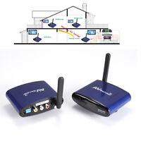200m 5.8GHz 5.8G Wireless AV Sender Transmitter & Receiver Audio Video CCTV DVR