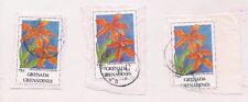 3 GRENADA stamps on paper.